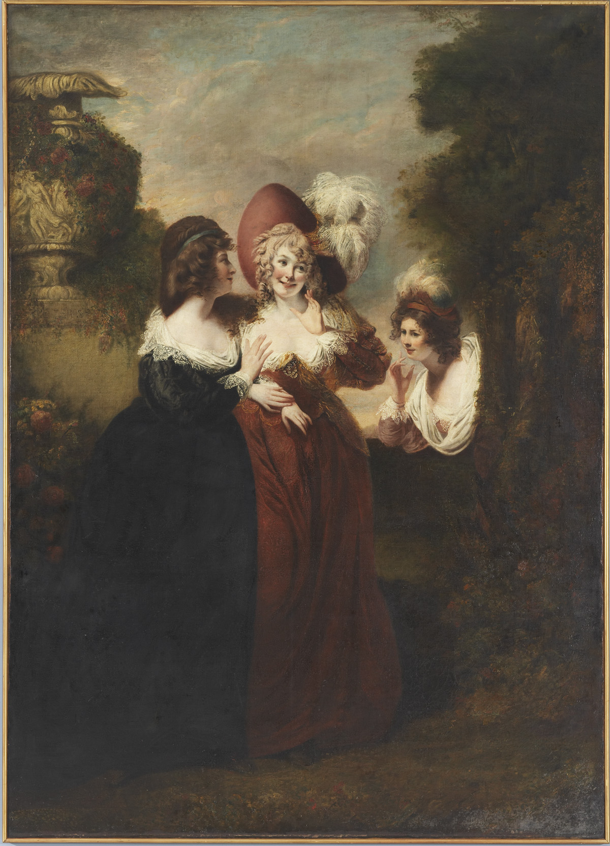 Hero, Ursula, and Beatrice in Leonato's Garden (act 3, scene 1 from Much Ado About Nothing)